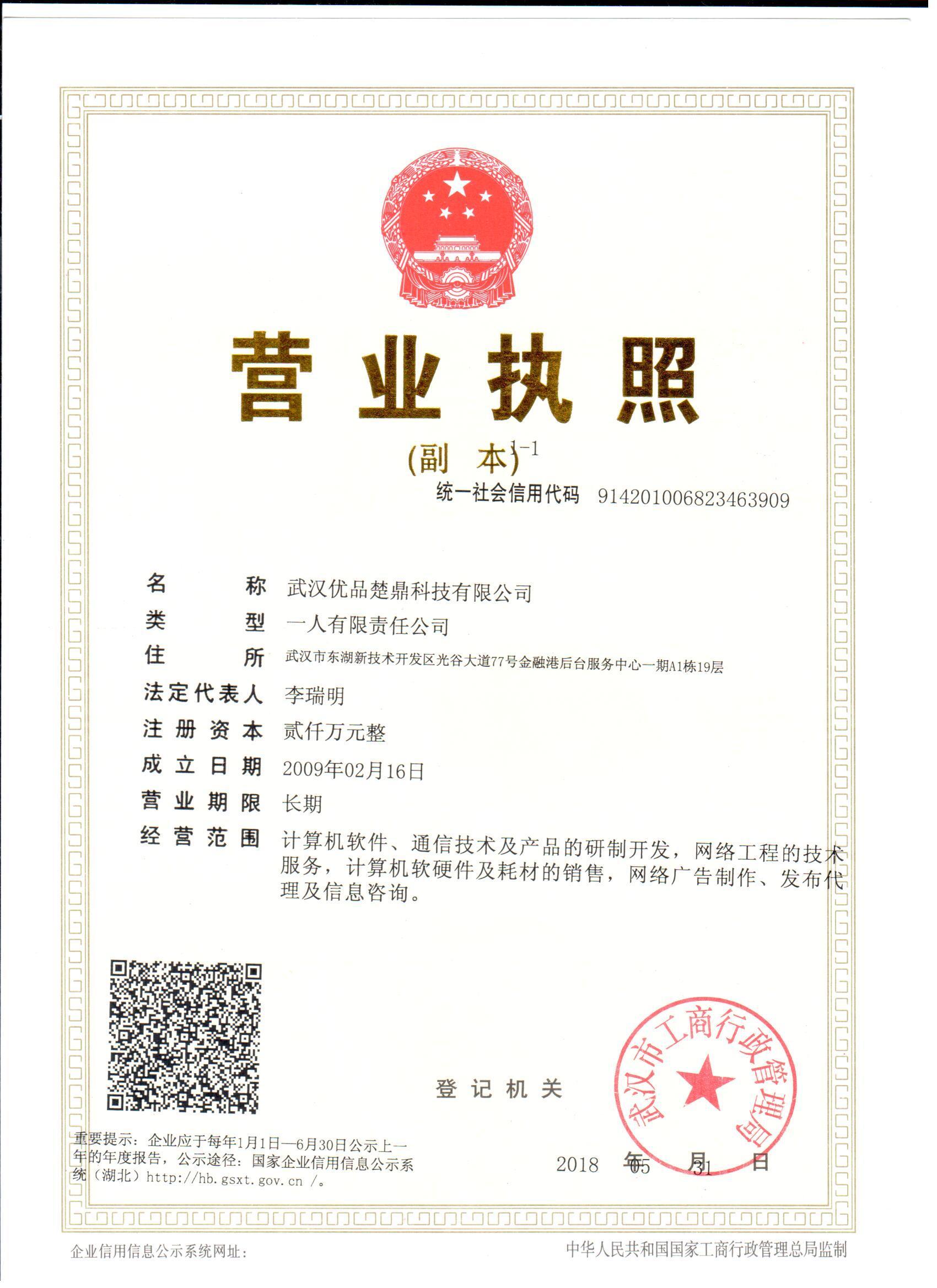 武汉优品楚鼎科技有限公司