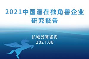 2021中国潜在独角兽企业研究报告